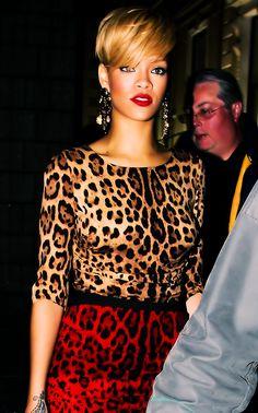 Rihanna in prints