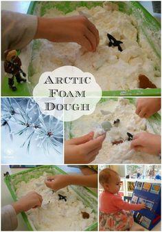 Arctic and Antarctica Frozen Foam Dough