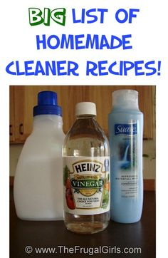 BIG List of Homemade Cleaner Recipes