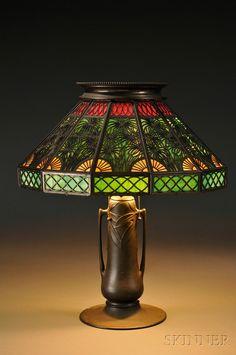 Metal Overlay Table Lamp