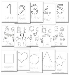 Preschool Daily Learning Notebook numbers, shapes, and letter inserts