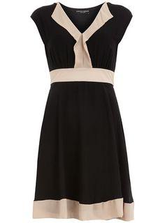 Black Colour Block Dress | Dorothy Perkins