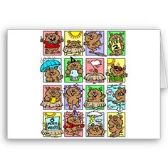 Funny Groundhog Day Cartoons Card from http://www.zazzle.com/groundhog+day+cards