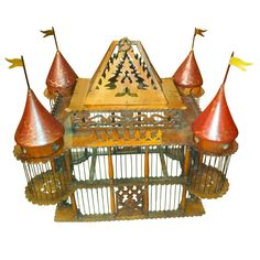 19th Century English Victorian Mahogany Bird Cage