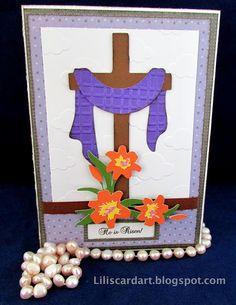 He is Risen! Easter Card...Cricut New Testament