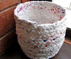 Cesto realizado con bolsas plasticas. ‹ Revista Lima