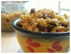Quinoa with Raisins and Toasted Pine Nuts: A tasty and nutritious side dish to any meal.