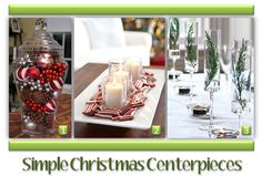 Christmas Centerpieces: Adding just a few festive touches to your home during the holidays can make all the difference. Here are some simple centerpiece ideas to dress up your dining room in a snap!