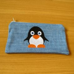 Purse with Penguin Embroidery £4.50