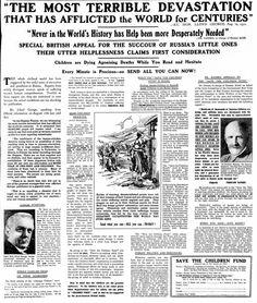 Save the Children Fund. 2 December, 1921.