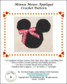 Free applique to crochet