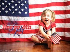 Happy 4th of July 2014 Cute Kids, Baby Girl, Toddler Pictures, Images with US Flag