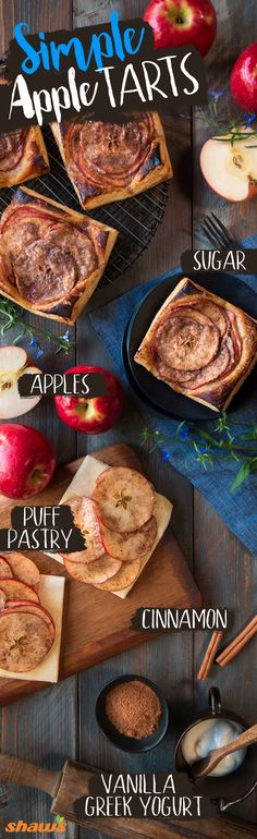 Simplify apple tarts