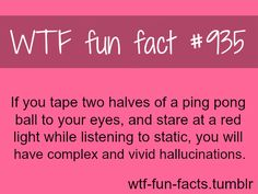 WTF-fun-facts : funny & weird facts. I'm pretty sure whoever decided to do this was already on some sort of hallucinogenic...