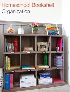 Homeschool Bookshelf Organization | Decorchick!®