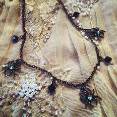 Decadent Spider necklace  Emerald Swarovski crystals by gigideluxe, $45.00