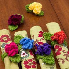 Fantasy Flower Napkin Rings Tutorial ~☆~Teresa Restegui http://www.pinterest.com/teretegui/ ~☆~