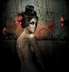 illustration by Deniz Ercelebi #carnival #tattoo Deniz Erçelebi, Autumn Iphone, Illustration, Art Prints, Talent O'Port, Autumn Art, Sky Art, Painting, Deniz Ercelebi
