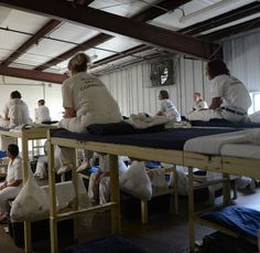 Inmates in a dormito