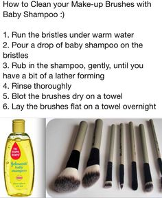 Cleaning makeup brushes - This works so well! So much better than the vinegar method and they smell so nice! - Nance
