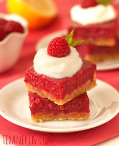Raspberry Lemon Bars – 100% Whole Grain and Honey Sweetened