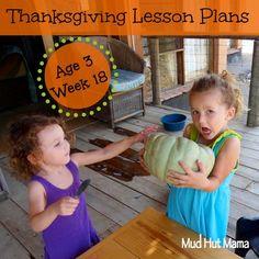 Preschool Thanksgiving Theme Lesson Plans - Mud Hut Mama