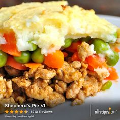 "Shepherd's Pie VI | ""Outstanding, I have tried numerous recipes for Shepard's Pie in the past but this one has to rank at the top of the list. The addition of the mashed carrots along with the addition of the Ketchup really pushes this recipe over the top."""