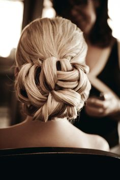 Hair up do low bun