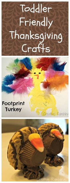 Toddler Friendly #Thanksgiving Crafts // creativerambingsblog.com