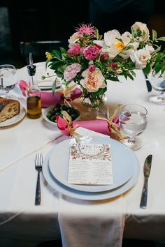 sweet place setting, photo by Love Katie and Sarah http://ruffledblog.com/a-brooklyn-wedding-for-two-actors #weddingideas #placesetting