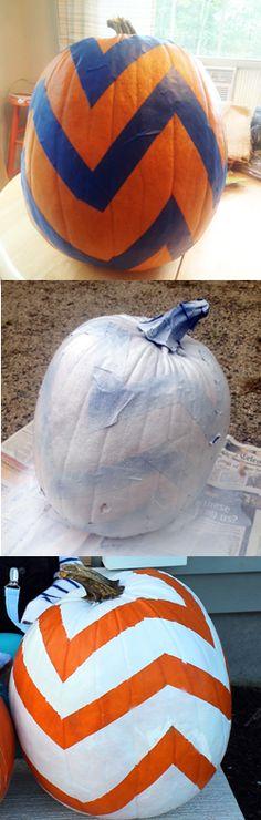 DIY Chevron Pumpkin