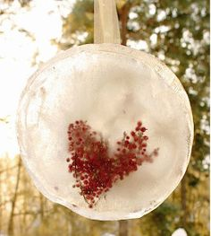 These stunning decorations are a must-make for a chilly Valentine's Day.