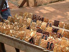 Adinkra textile stamps, Ghana.