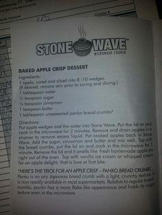 Apple crisp - stone wave recipe