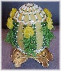 Diamond Trellis Beaded Egg