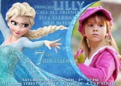 Disney Frozen Birthday party Invitation card digital by VintageDS, $9.99 with Elsa her favorite