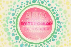 480 Watercolor Brushes Bundle by Mindful Pixels on Creative Market