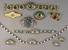 Group of Eye Jewelry- Love the lash details