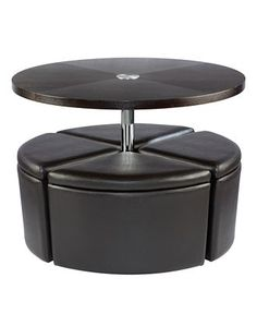 neptune coffee table with storage ottomans » home design 2017
