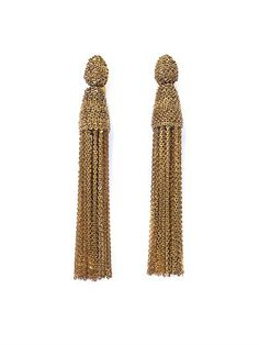 Shop now: Oscar de la Renta tassel earrings