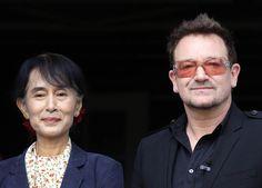 Aung San Suu Kyi , Bono