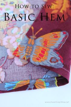 Learn how to sew a basic hem in this simple tutorial #sewing #tips