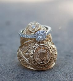 A great ring shot for an Aggie wedding!