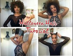 Two Halloween Hairstyles You Might Want To Try  Read the article here - http://www.blackhairinformation.com/general-articles/hairstyles-general-articles/two-halloween-hairstyles/ #halloween #naturalhairstyle