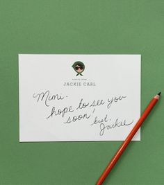 Template Illustrated Calling Cards, $50/set of 25 | Rifle Paper Co.