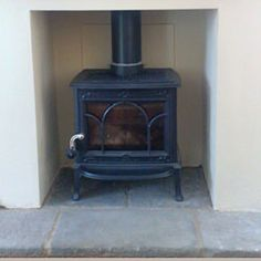Wood burner fireplace ideas on Pinterest | Hearth, Brick Hearth and S ...