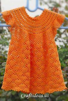 Crochet Toddler Dress.