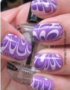 Purple cool nails