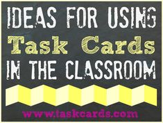 Huge Task Card blog with Ideas for implementation and organization.  A must read!
