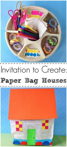 Paper Bag Houses -- great imaginative playtime fun for a rainy day!